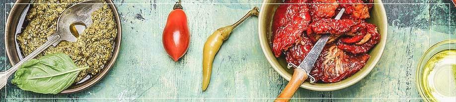 Antipasti, Oliven & Cremes