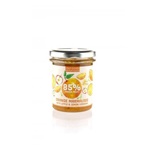 Orangenkonfitüre mit Apfel und Zitronenverbene - 85% Fruchtanteil