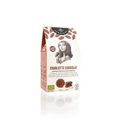 Charlotte Chocolat - BIO Schokokekse mit Fleur de Sel und Haselnuss. 250 g