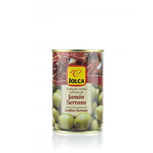 Grüne Oliven mit Serrano Schinken gefüllt von Jolca