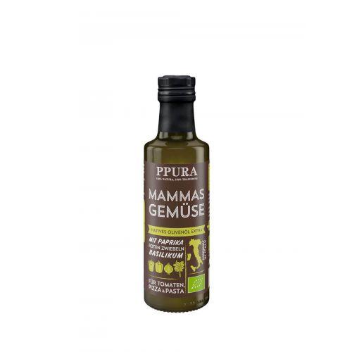 Olivenöl - Mammas Gemüse mit Paprika & Basilikum BIO von PPURA, 100ml