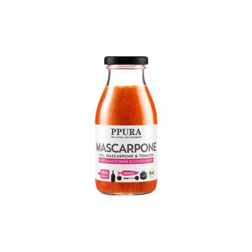 Bio Tomatensauce mit italienischem Mascarpone von PPURA, 250ml