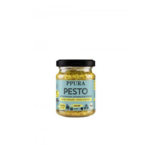 Pesto mit Artischocke, Petersilie und sizilianischer Zitrone BIO von PPURA, 120g