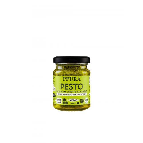 Pesto Basilikum, Limettte & Cashews BIO von PPURA, 120g