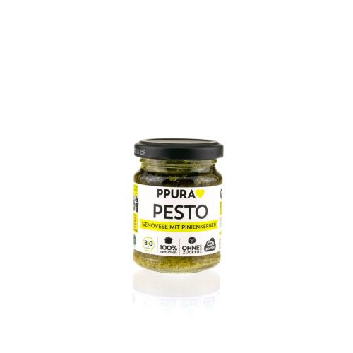 Pesto Genovese mit Pinienkernen BIO von PPURA, 120g