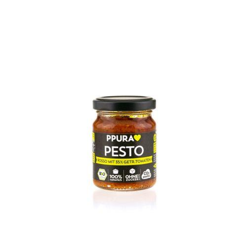 Pesto Rosso mit 35% getrockneten Tomaten BIO von PPURA, 120g