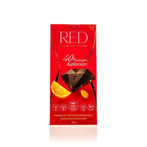 Red Dunkle Schokolade mit Mandeln und Orange 100g