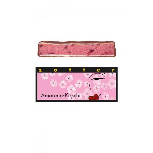 Amarena Kirsch von Zotter - Handgeschöpfte Schokolade, BIO, 70 g Tafel