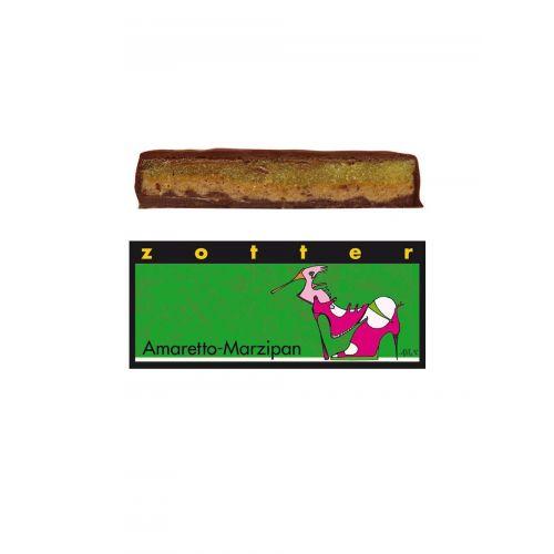 Amaretto Marzipan von Zotter - Handgeschöpfte Schokolade, BIO 70g Tafel