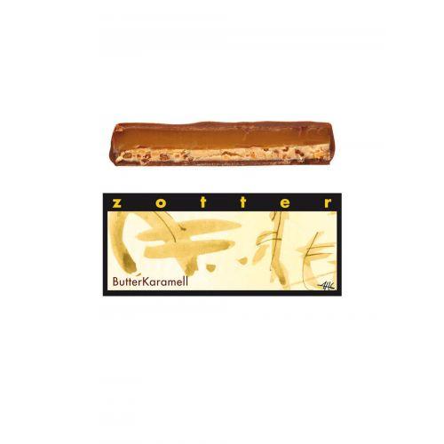 Butter Karamell von Zotter - Handgeschöpfte Schokolade, BIO, 70g Tafel