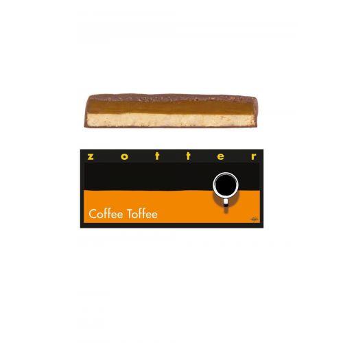 Coffee Toffee von Zotter - Handgeschöpfte Schokolade, BIO, 70g Tafel