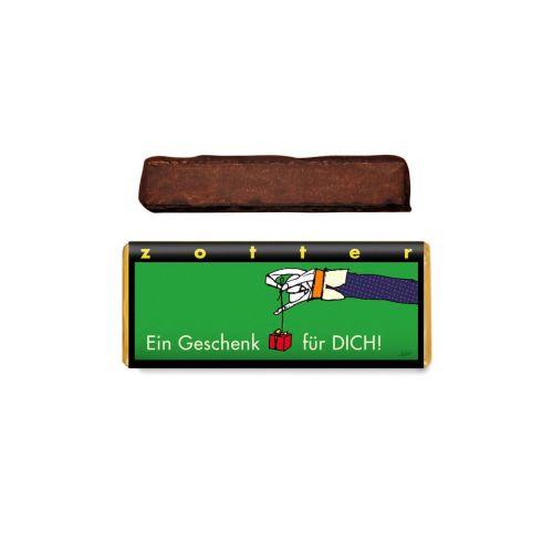 Ein Geschenk für DICH - Zotter - Handgeschöpfte Schokolade, BIO