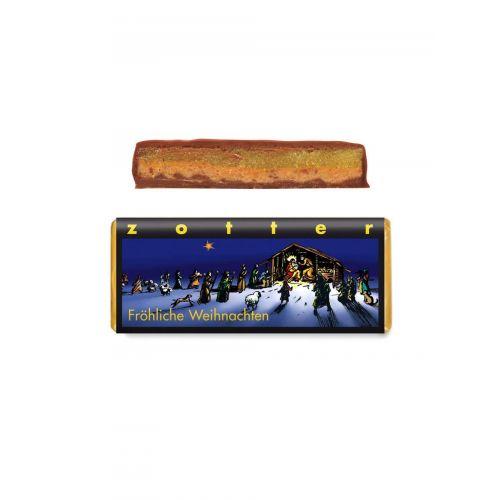 Fröhliche Weihnachten von Zotter - Handgeschöpfte Schokolade, BIO