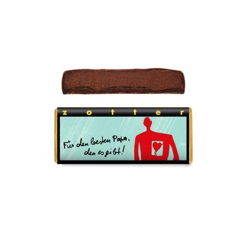 Für den besten Papa, den es gibt! - Zotter - Handgeschöpfte Schokolade, BIO