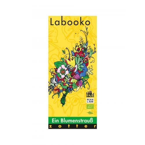 Labooko - Ein Blumenstrauß - Zotter - Handgeschöpfte Schokolade, BIO, 70g Tafel