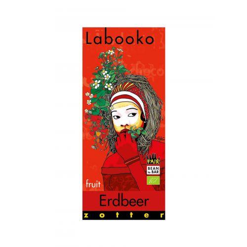 Labooko Erdbeer von Zotter Bio, 2 x 35g Tafel