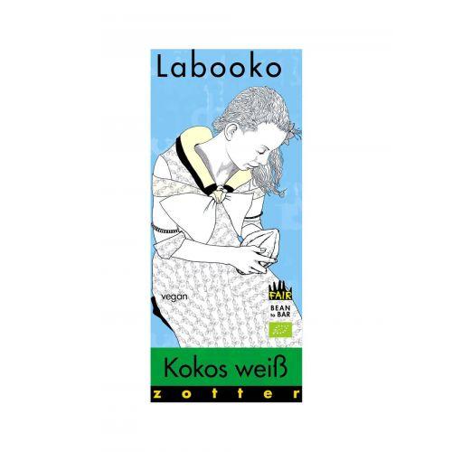Labooko Kokos weiß (vegan) von Zotter, 2 x 35g Tafel bio