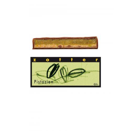 Pistazien Schoko von Zotter - Handgeschöpfte Schokolade, BIO, 70g Tafel