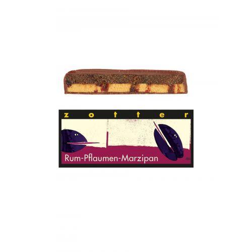 Rum-Pflaumen-Marzipan von Zotter - Handgeschöpfte Schokolade, BIO, 70 g Tafel