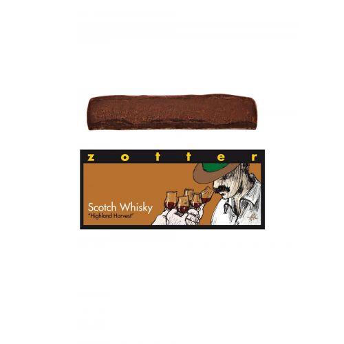 Scotch Whisky von Zotter - Handgeschöpfte Schokolade, BIO, 70 g Tafel