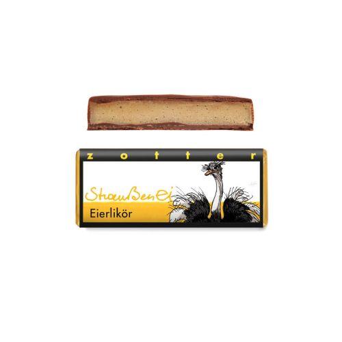 Straußenei Eierlikör - Zotter - Handgeschöpfte Schokolade, BIO