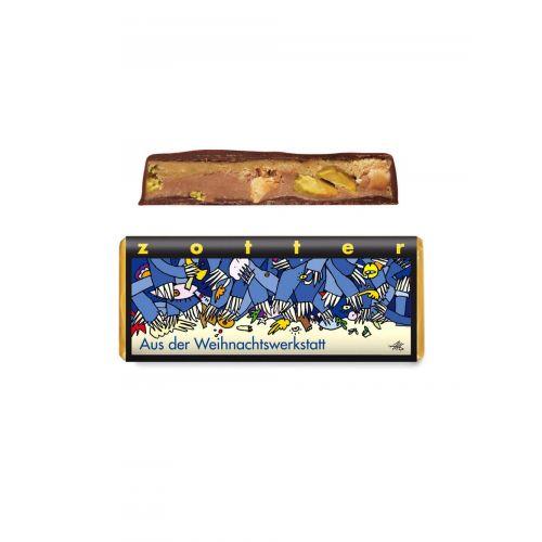 Aus der Weihnachtswerkstatt von Zotter - Handgeschöpfte Schokolade, BIO