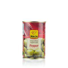 Grüne Oliven mit geräucherten Paprika gefüllt von Jolca
