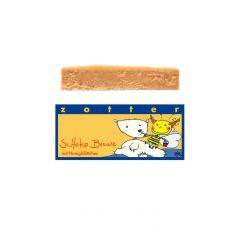 Schoko Biene mit Honigblättchen von Zotter - Handgeschöpfte Schokolade, BIO, 70g Tafel