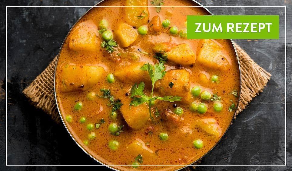 Kartoffel Erbsen Curry