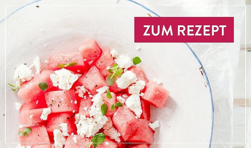 Wassermelonen Feta-Salat