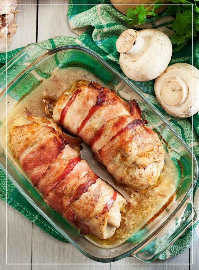 Gefüllte Hähnchenbrust mit Pesto und Ricotta