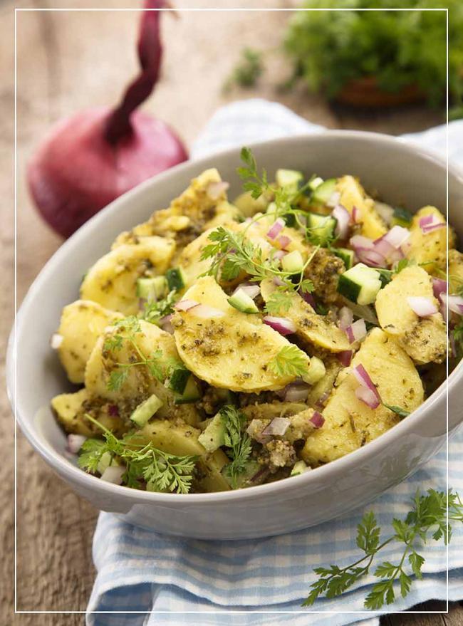 Kartoffelsalat mit Zitronenpesto